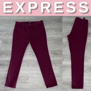 NEW Express Mid Rise Ankle Legging Pants; 12R